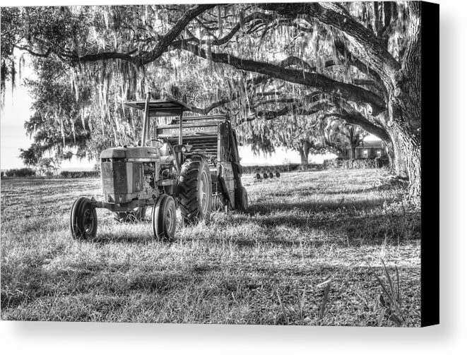 John Deere Hay Bailing Canvas Print Canvas Art by