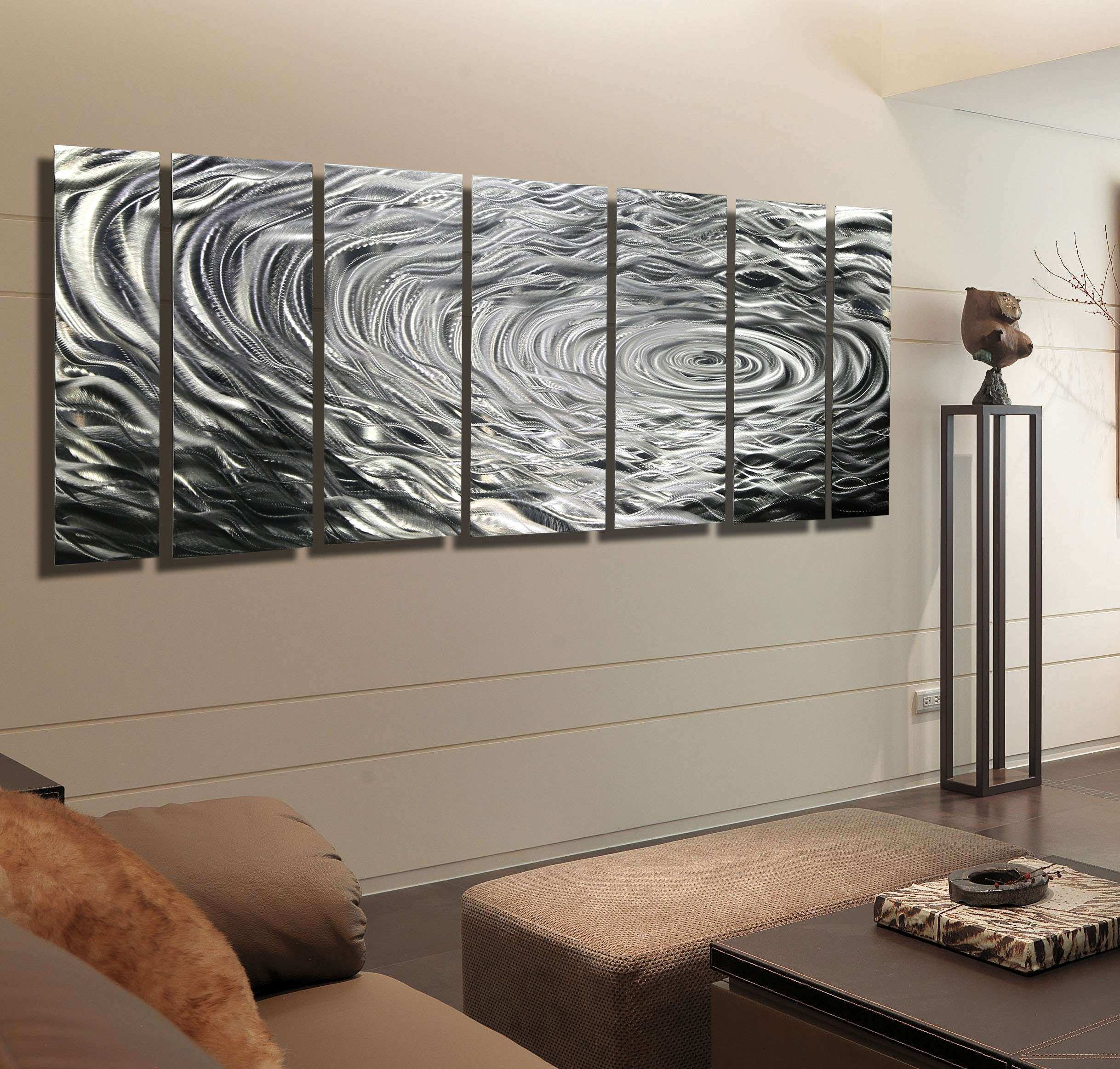 Jon Allen Metal Wall Art Lovely Silver Modern Metal Abstract Wall Art  Sculpture Ripple