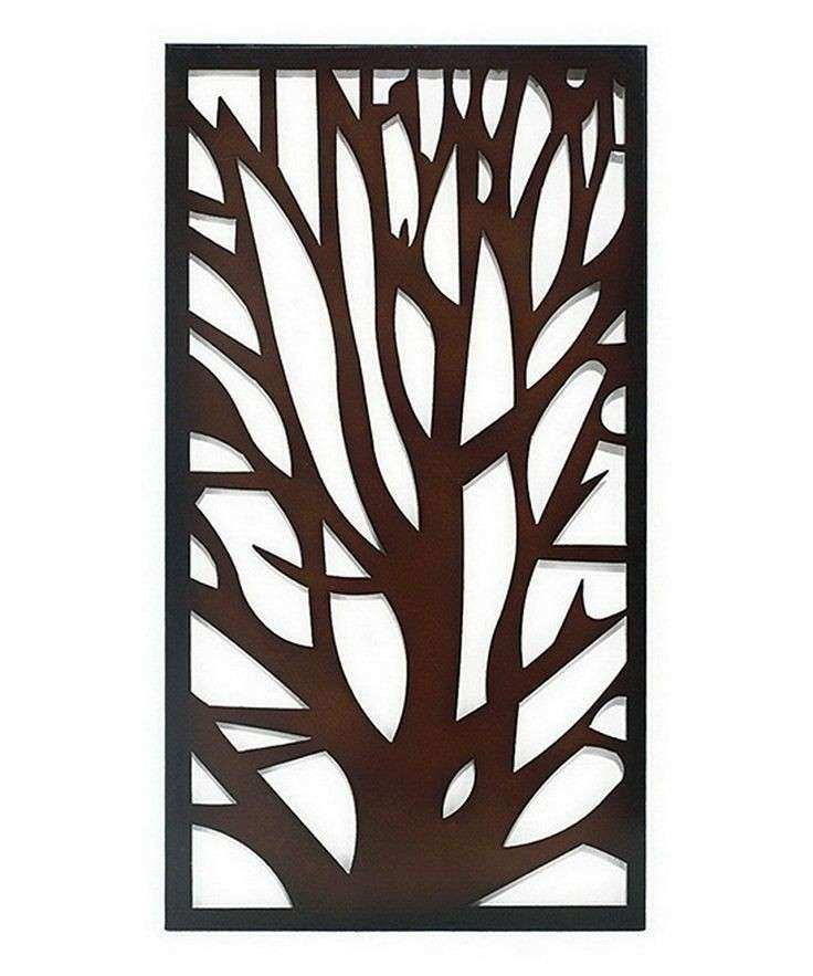 Brown Tree Silhouette Wall Art