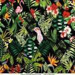 Jungle Print Wallpaper For Walls Unique Exotic Beach Trendy Seamless Pattern Patchwork Stock Of Jungle Print Wallpaper For Walls
