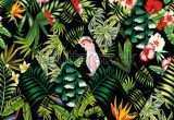 Jungle Print Wallpaper for Walls Unique Exotic Beach Trendy Seamless Pattern Patchwork Stock