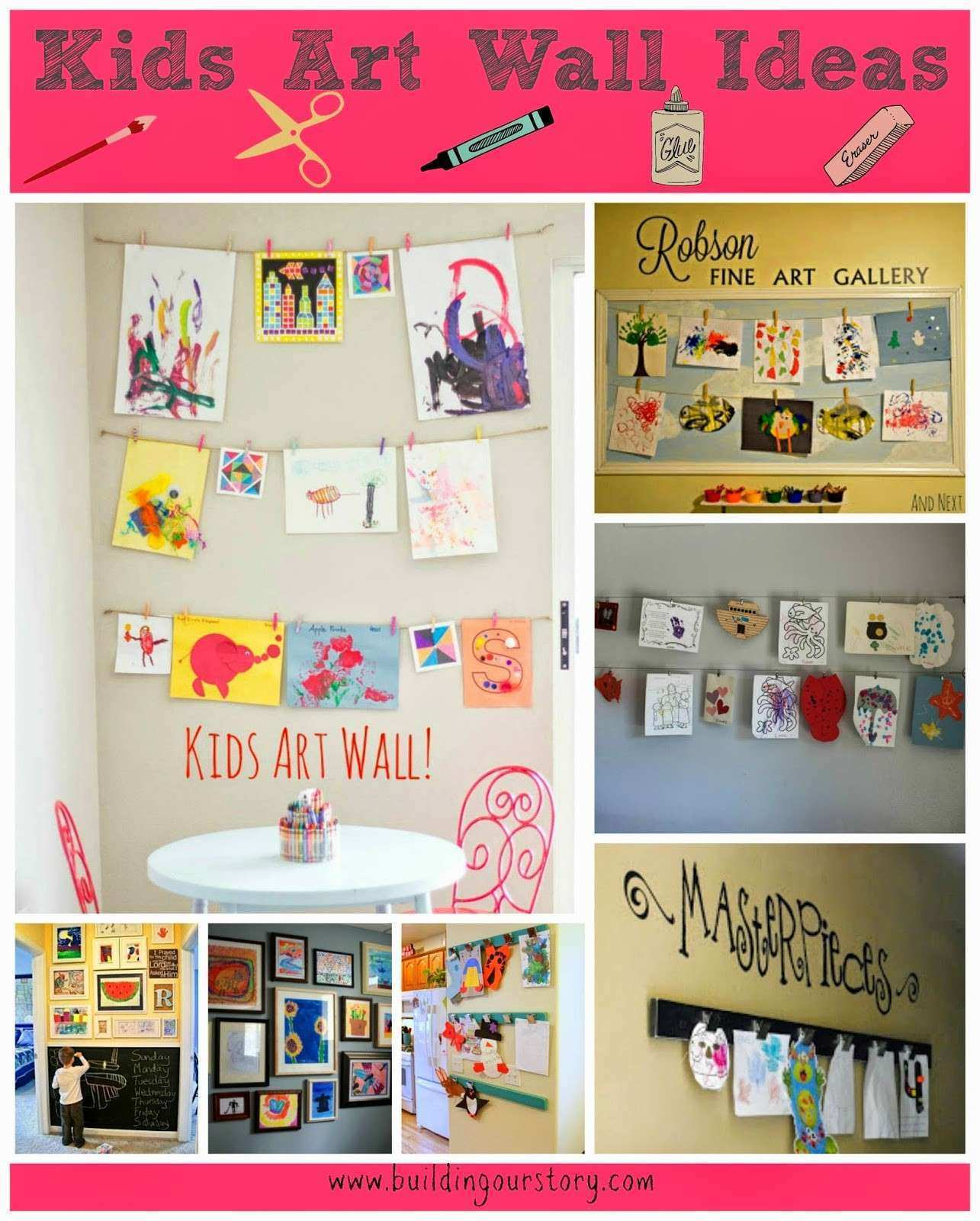 Kids Art Wall Ideas Building Our Story