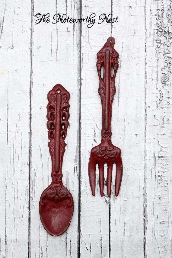 Free Download Image Lovely Kitchen Wall Decor Fork And Spoon