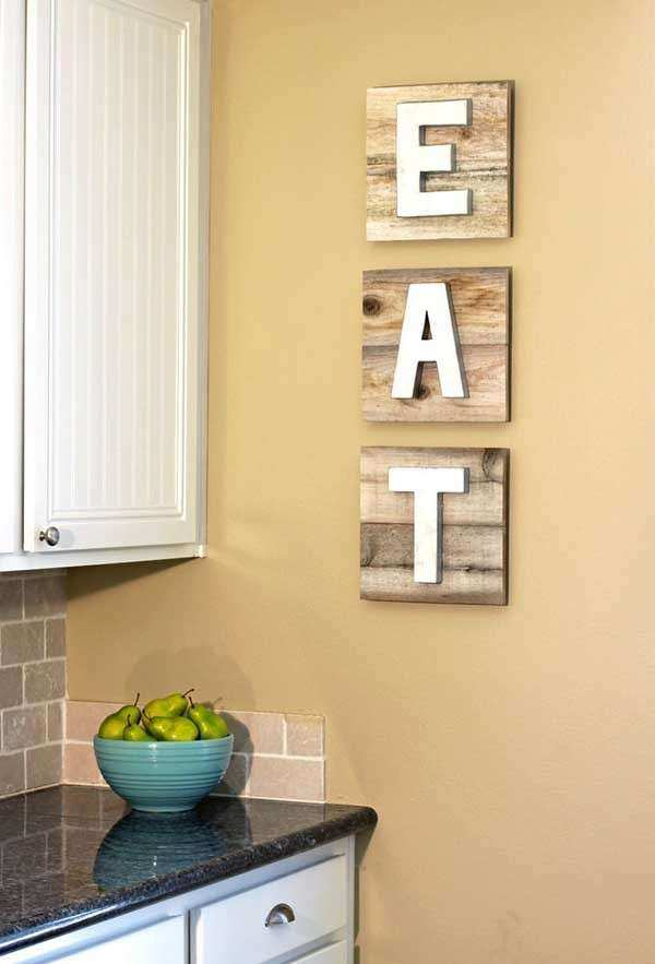 Kitchen Wall Decor Ideas Diy Fresh top 30 the Best Diy Pallet ...