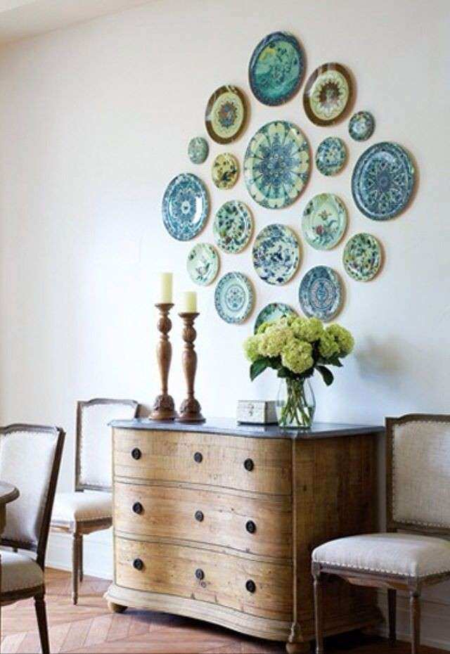 Kitchen Wall Decor Ideas Pinterest Awesome Plate Arrangements Wall ...
