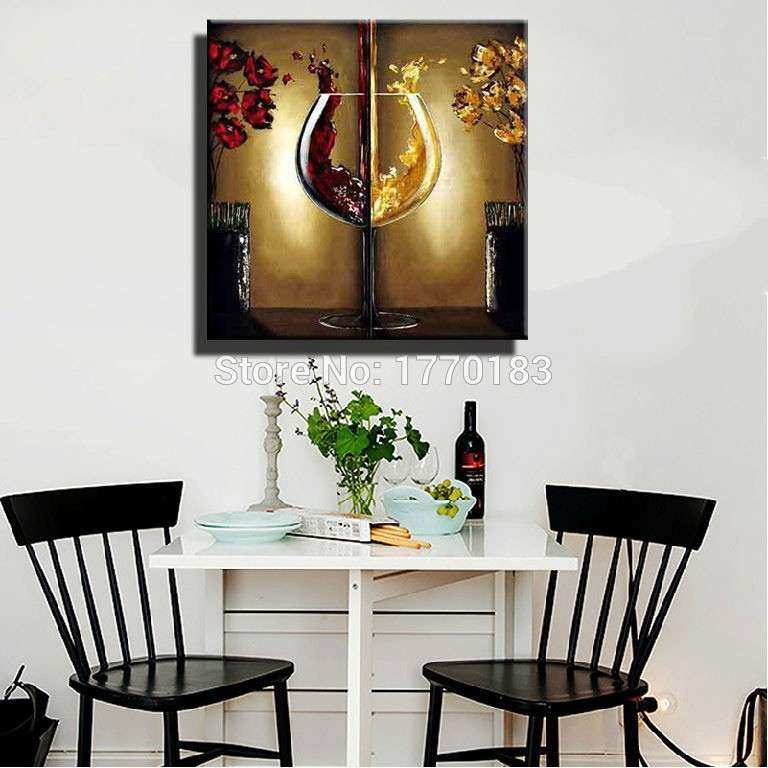 Kitchen Wall Decor Ideas Pinterest New Wine Wall Art Decorating Dining Room  1000 Ideas About