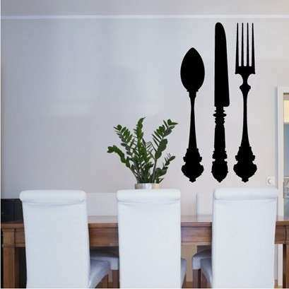 Knife Fork & Spoon Sticker Wall Art from Next Wall Stickers