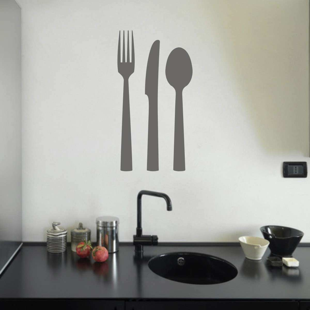 Knife Fork and Spoon Wall Decor Kitchen Wall Art Kitchen