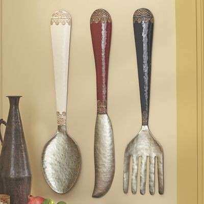 Set of 3 Knife Spoon Fork Wall Décor from Midnight Velvet