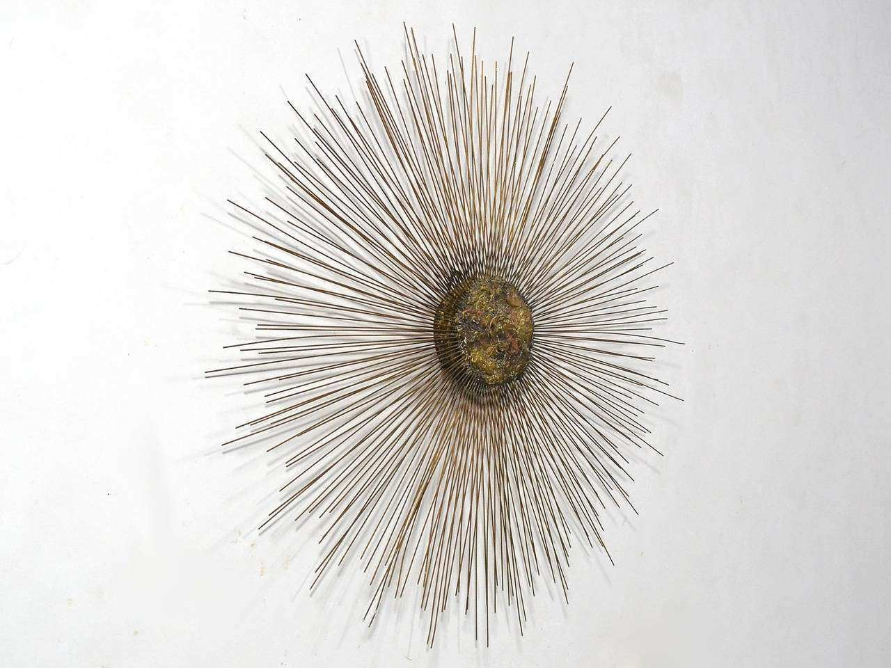 Metal Abstract Sunburst Wall Sculpture at 1stdibs