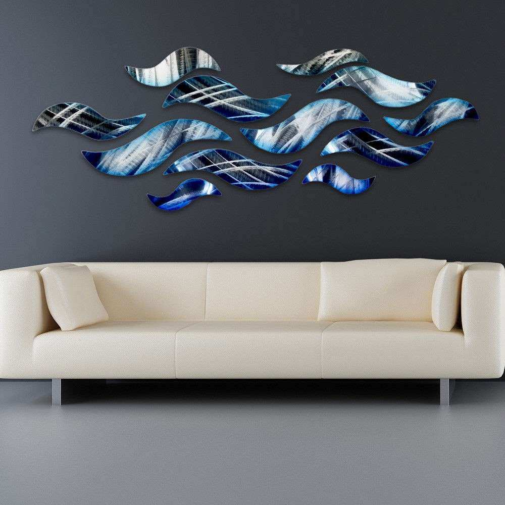 """Rip Tide"" Metal Wall Art Sculpture Modern Abstract Ocean"