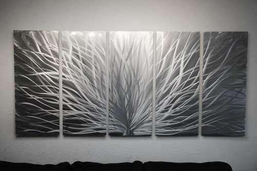 Metal Wall Art Abstract Sculpture Modern Decor