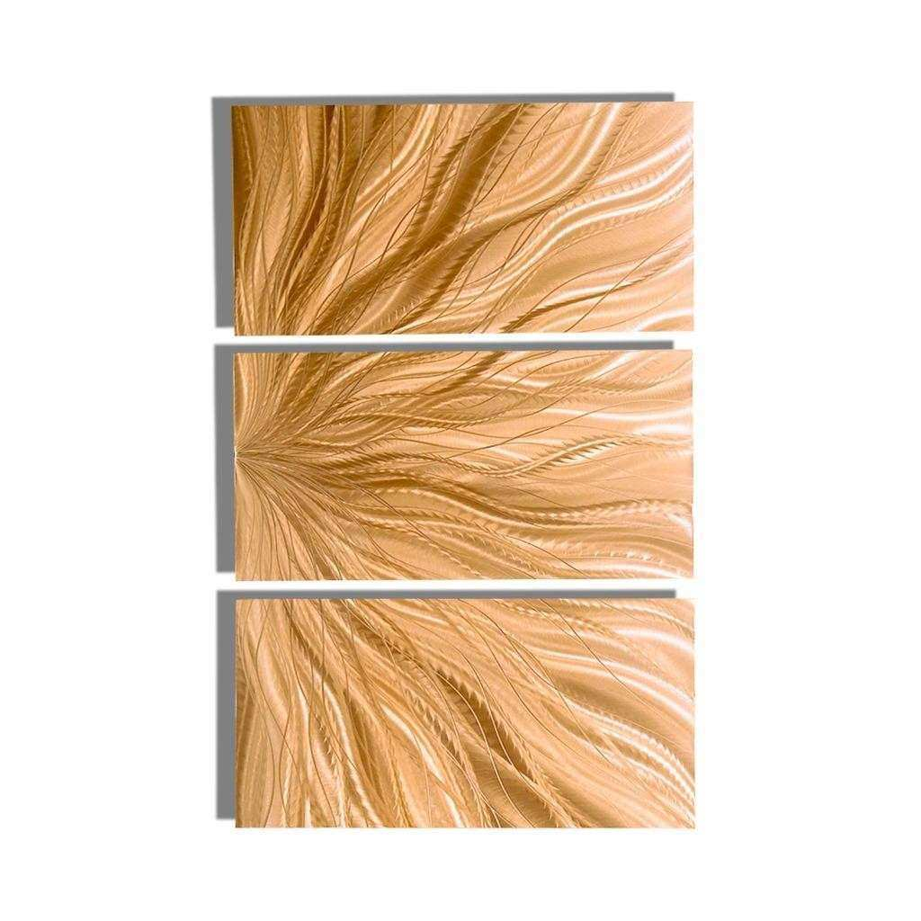 Light Copper Modern Metal Wall Art Abstract Metal