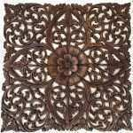 Luxury Large Carved Wood Wall Art