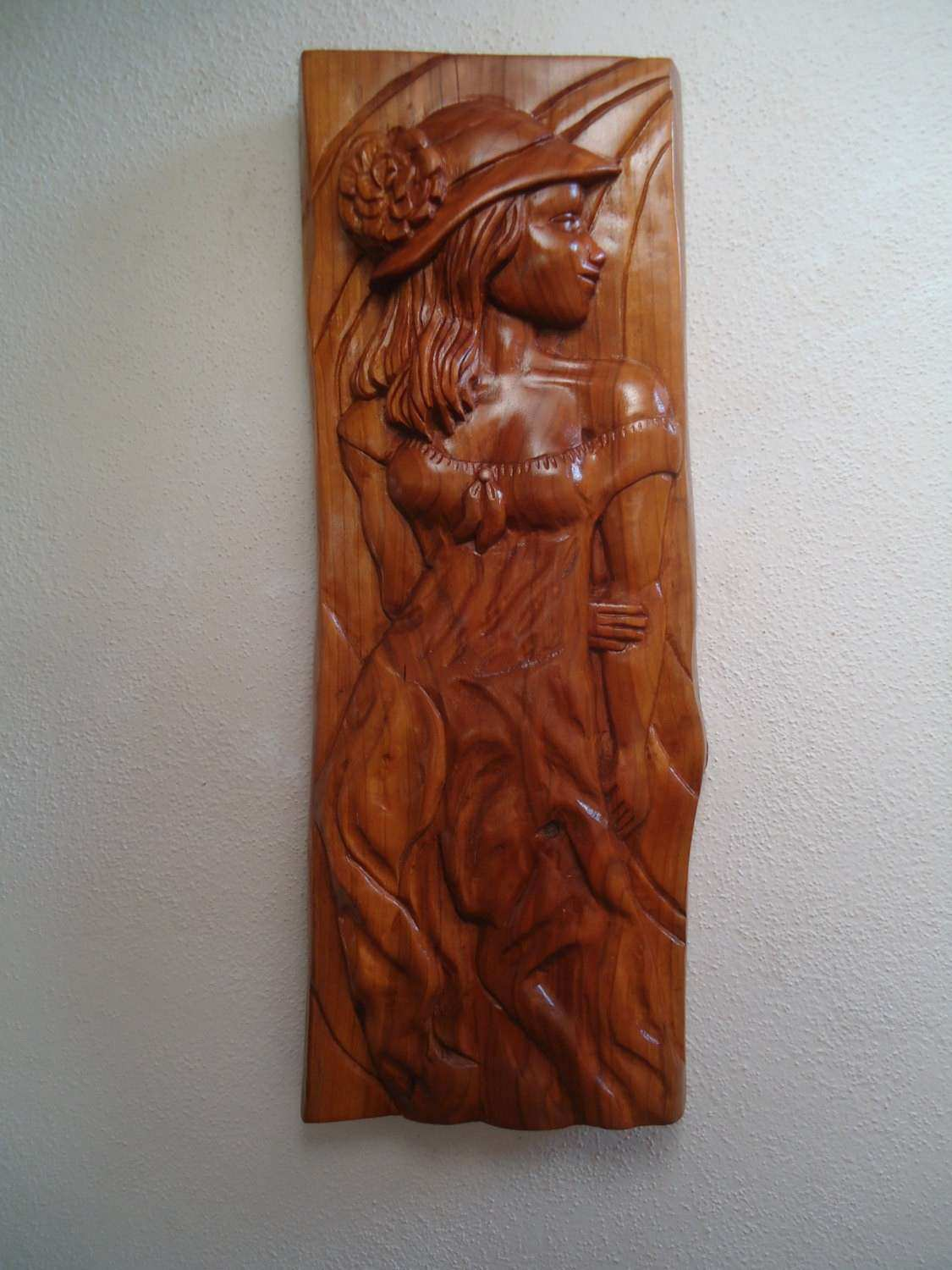 Wood carving sculpture Wood wall art Wood carving