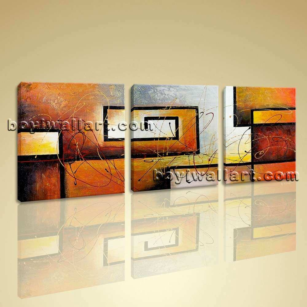 Large Framed Wall Art Best Of 3 Pc Modern Abstract Canvas Wall Art ...