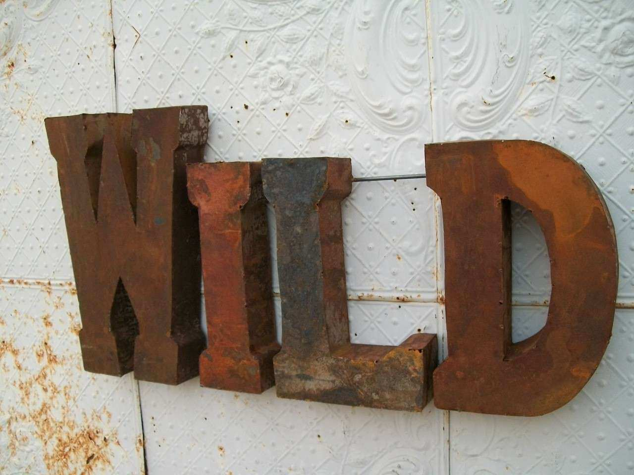 home metal new wall decor of large wood for art and letters