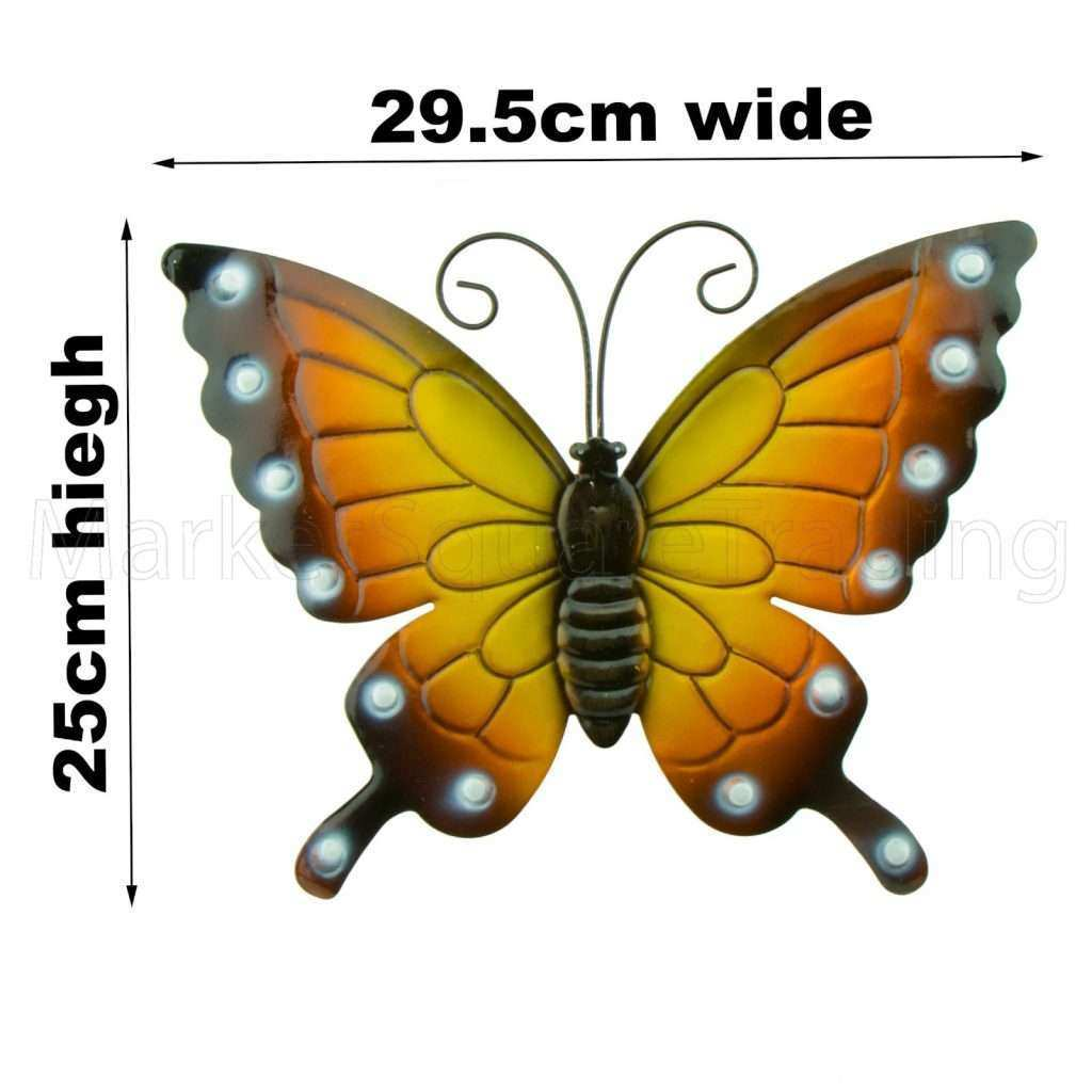 Large Metal butterfly Wall Art Awesome butterflies X 4 Coloured ...