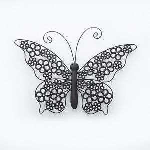 Shabby Chic Metal Butterfly Wall Art Plaque