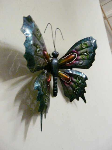 Metal Wall Art Metal Butterfly Blue