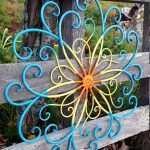 Beautiful Large Metal Flower Wall Art