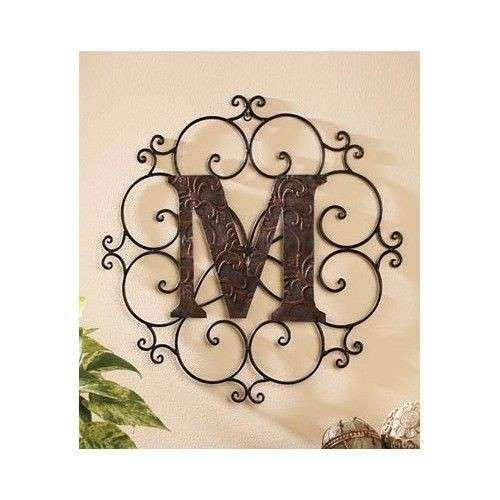 Metal Letter Wall Art Decorative Medallion Alphabet