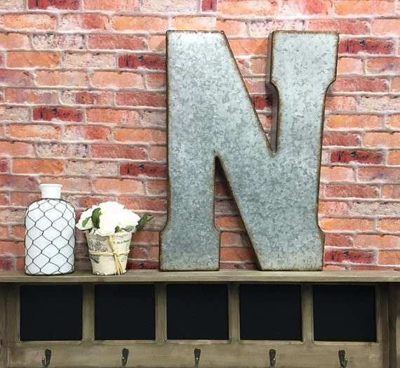 Metal Letters Letter N Letters Wall by TheShabbyStore