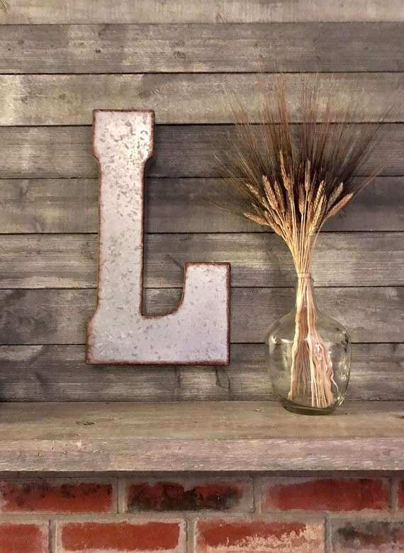 Items similar to Metal Letter Big Letter Wall