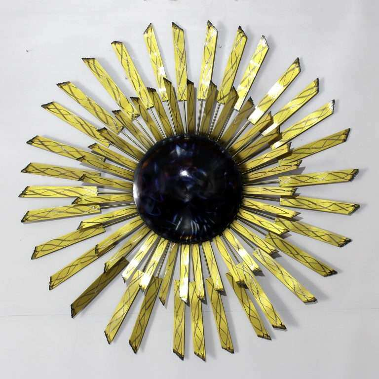 Large Metal Sun Wall Art Beautiful Sunburst Metal Wall Art Sculpture ...