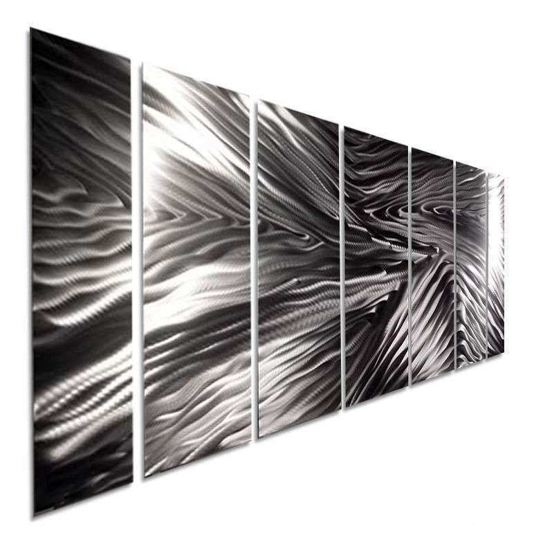 Modern Abstract Silver Metal Wall Art Decor fice