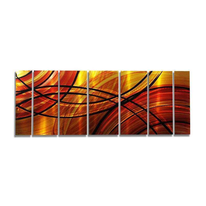 Red & Gold Contemporary Metal Wall Art Decor by Jon