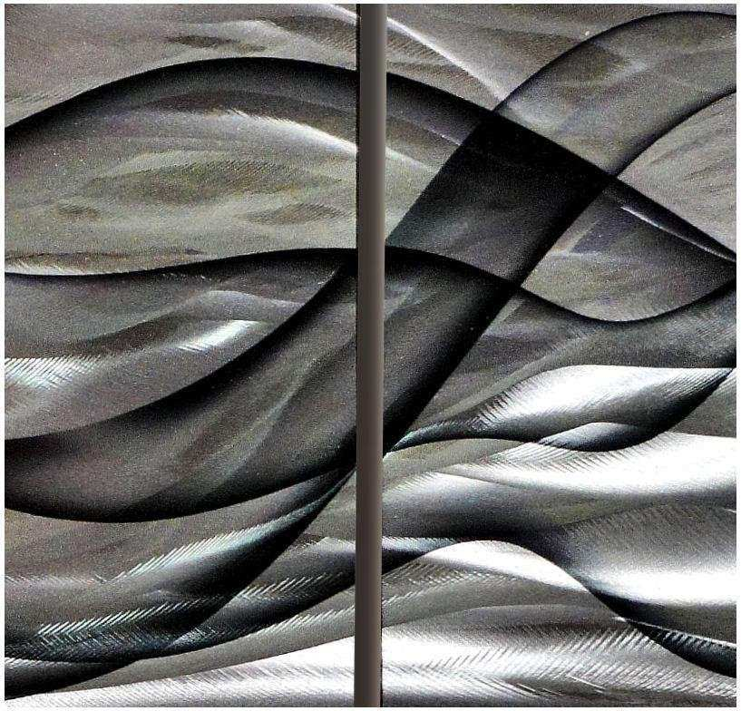 Metal Modern Abstract painting wall Art Original