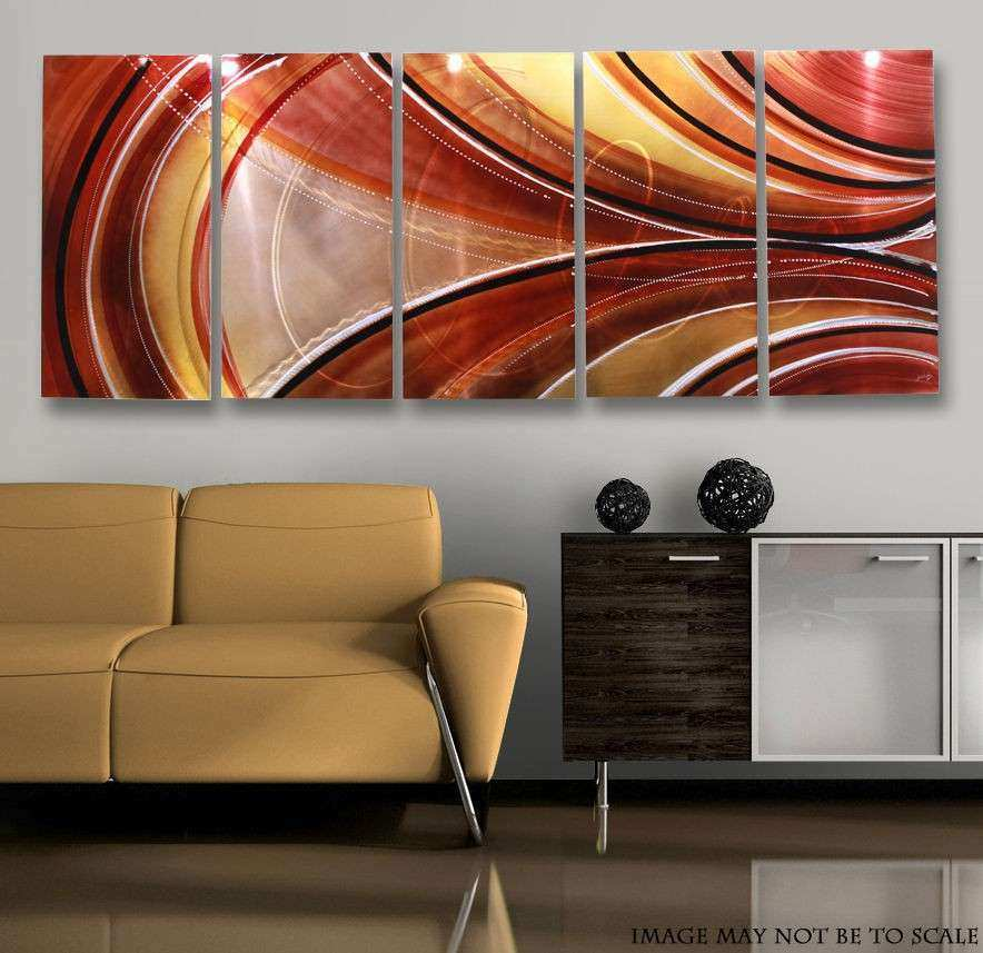 Large Metal Wall Art Fresh Modern Abstract Bronze Copper Painting ...
