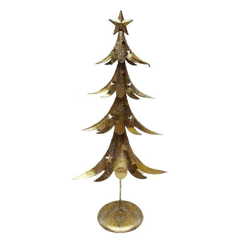 Gold Metal Contemporary Christmas Tree Nordic Style
