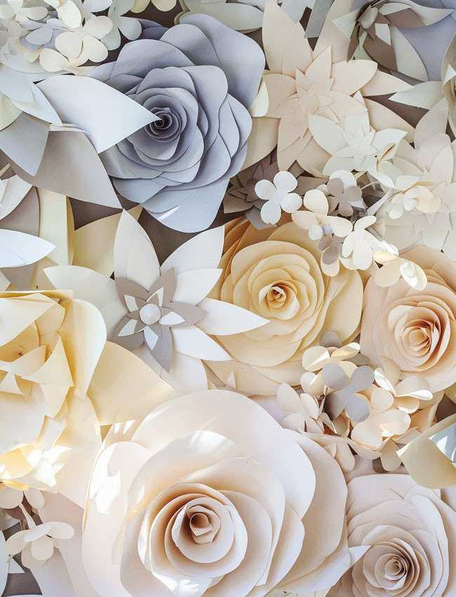 Large Paper Flowers Wall Decor Fresh Bohemian Big Sur Wedding Sara andy