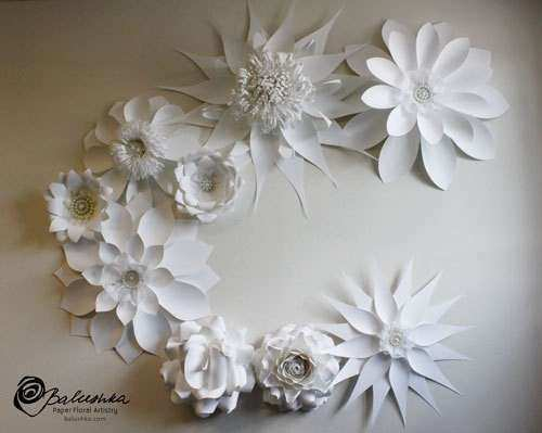 Large Paper Flowers Wall Decor Luxury Items Similar to Paper Flower Handmade Wall Collage for