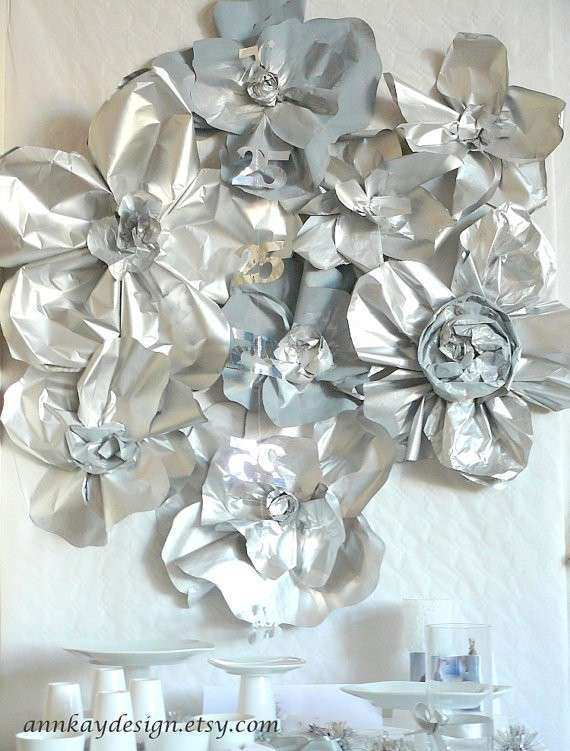 Large Paper Flowers Wall Decor New Paper Flowers Wedding Backdrop Arch or Wall Decor Set Of