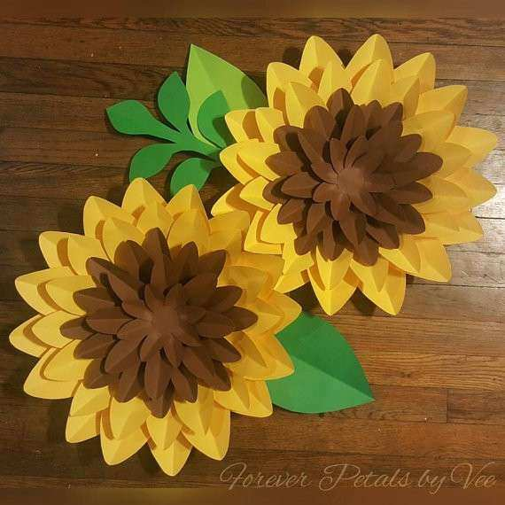 Large Paper Flowers Wall Decor Unique Pair Of Paper Flower Wall