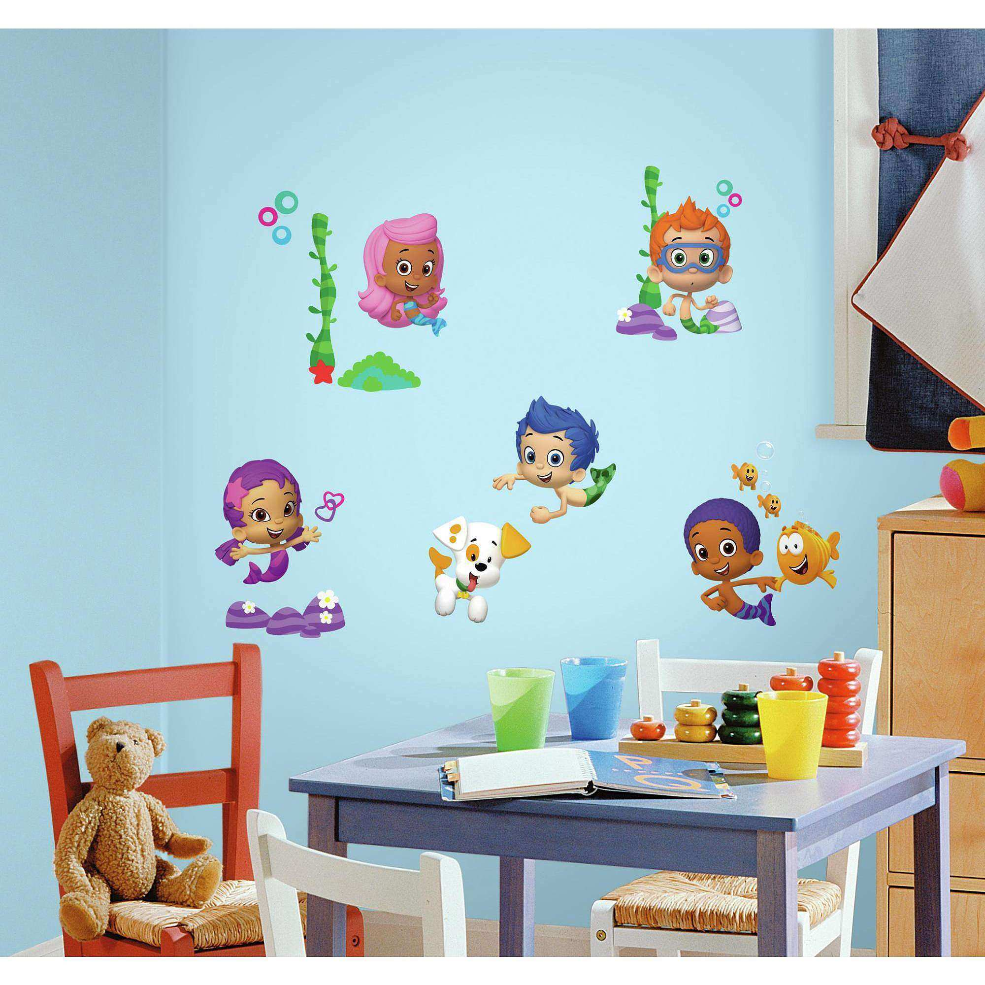 Bubble Guppies Peel And Stick Wall Decals Walmart idolza