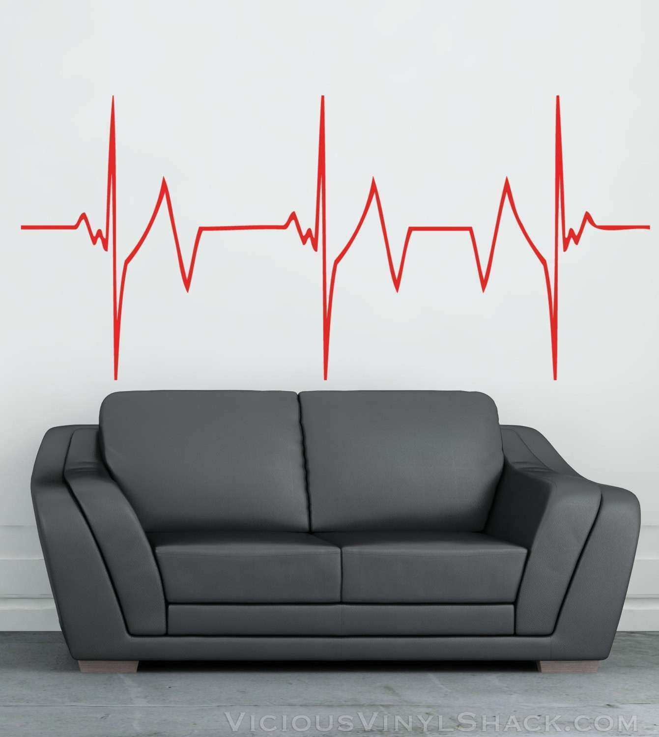 Rapid Heartbeat Vinyl Wall Decal Stickers Multiple Colors