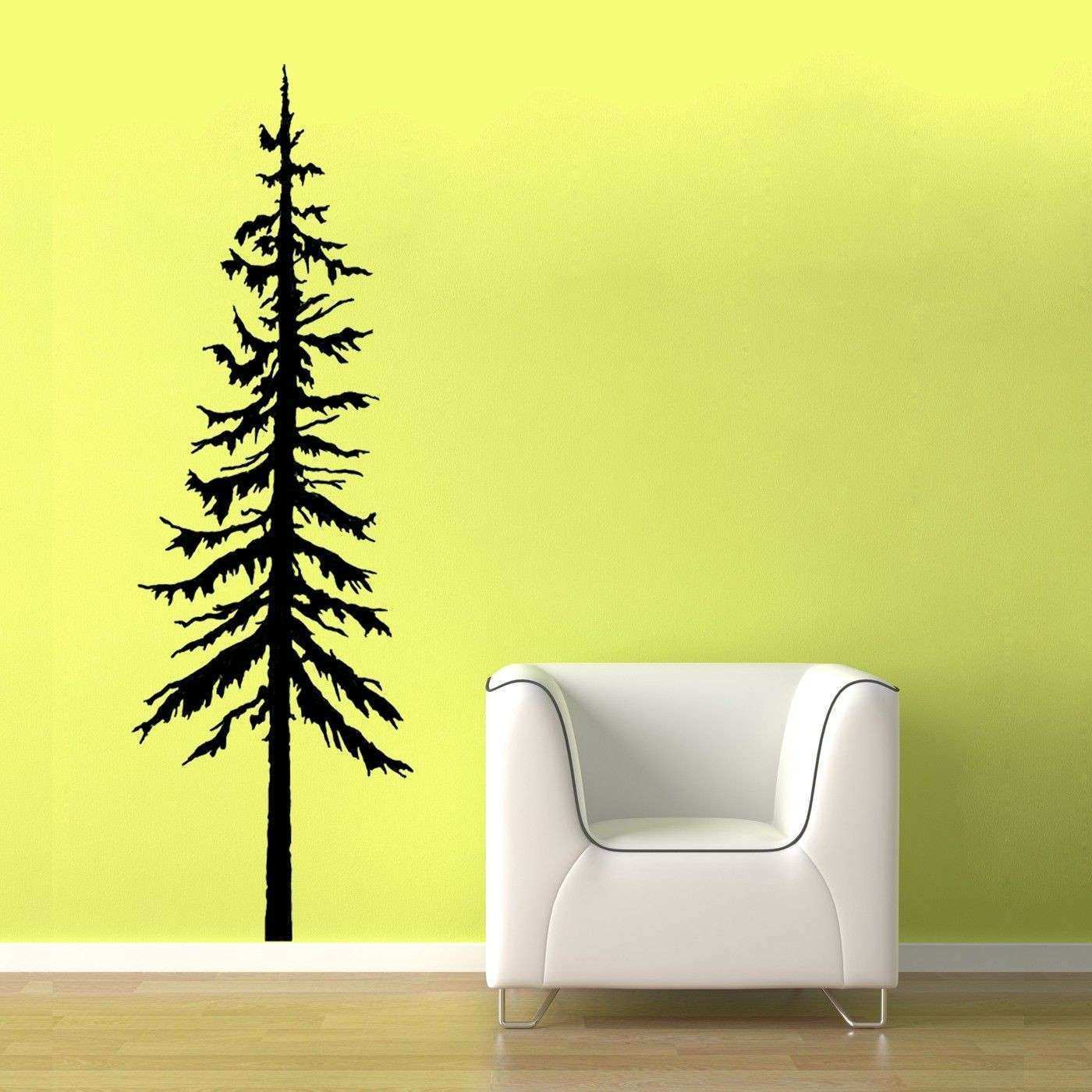 Pine Tree Decal vinyl wall graphic Pine Tree Decal Pine Trees