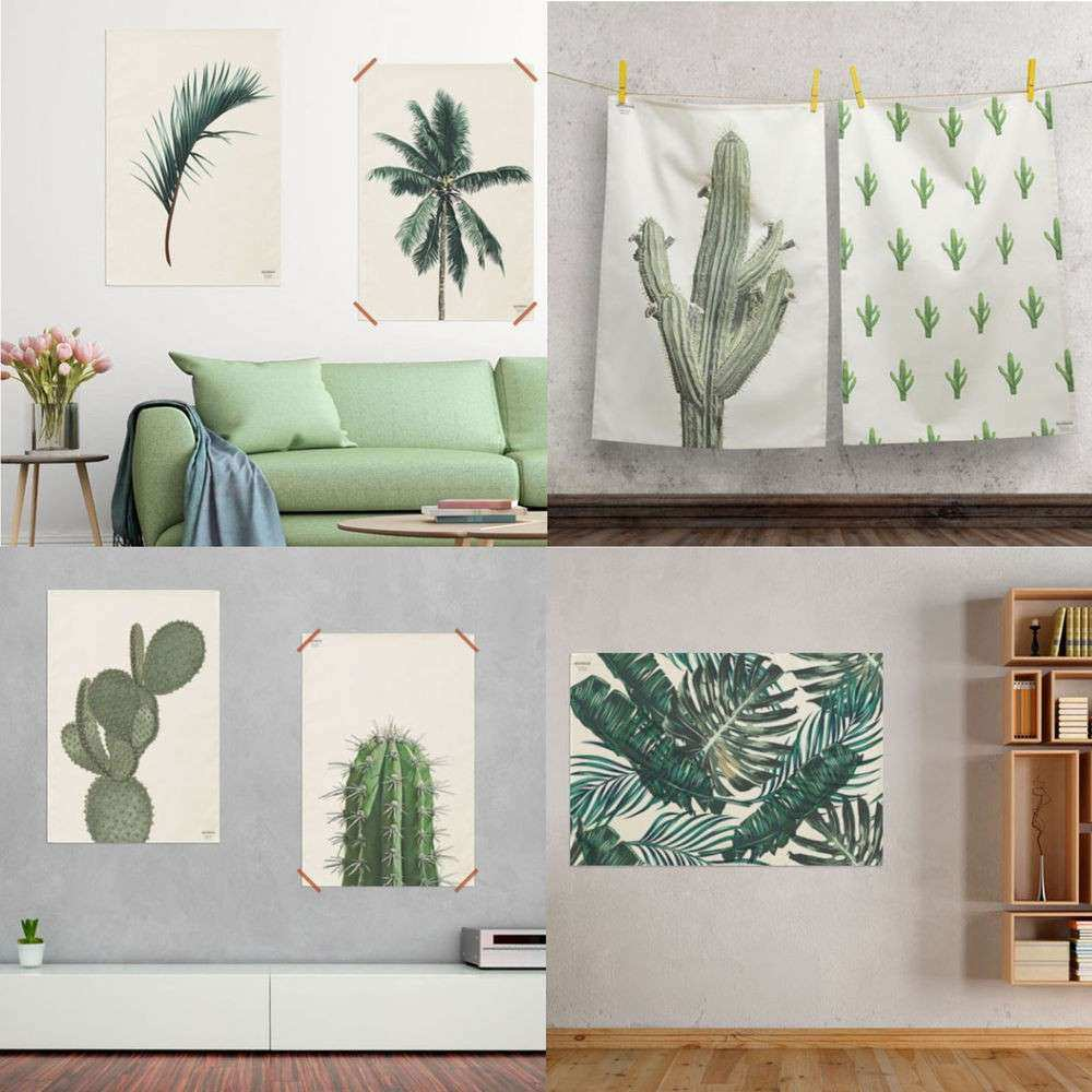 42 Designs Fabric Prints Wall Hanging Poster Botanical