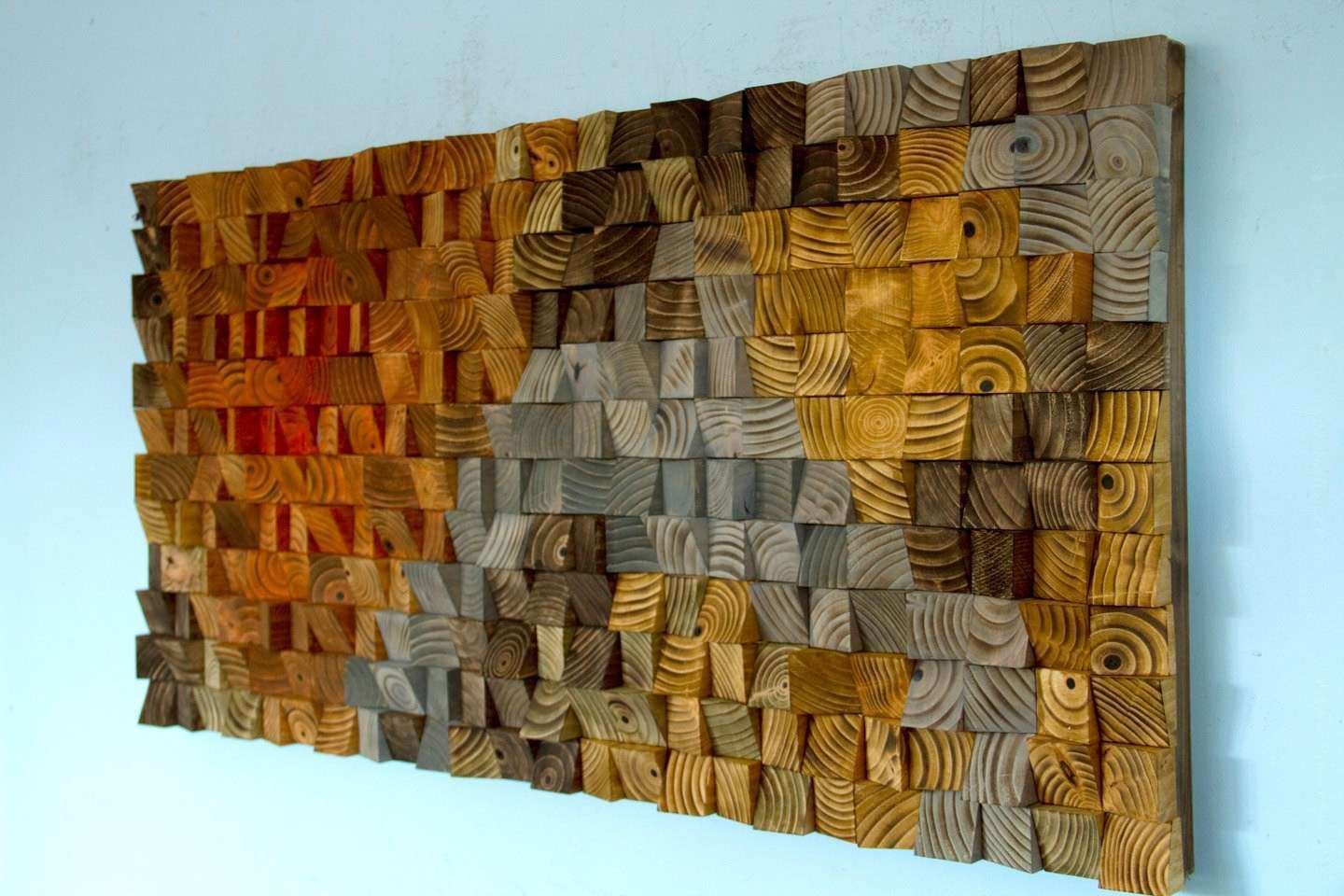 Rustic Art wood wall sculpture abstract painting