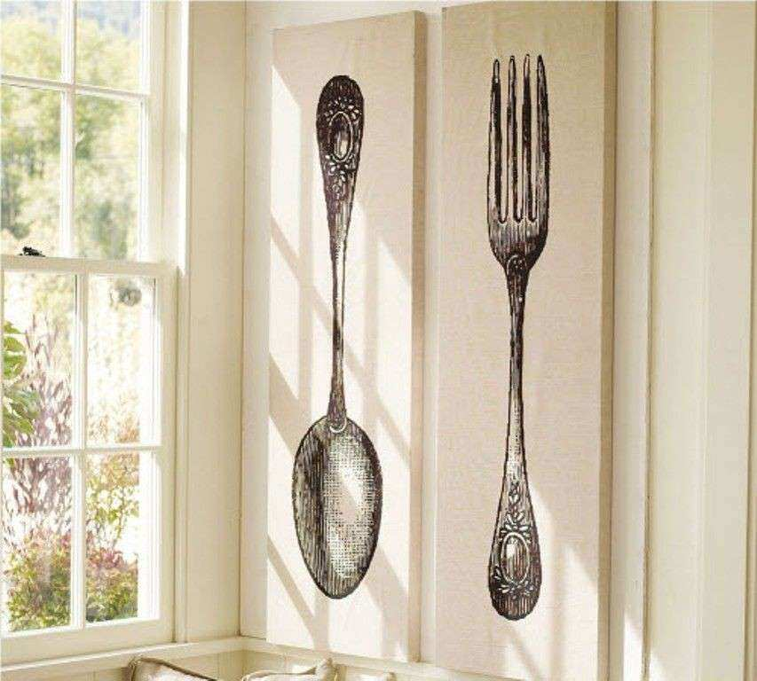 Large Spoon And Fork Wall Decor New