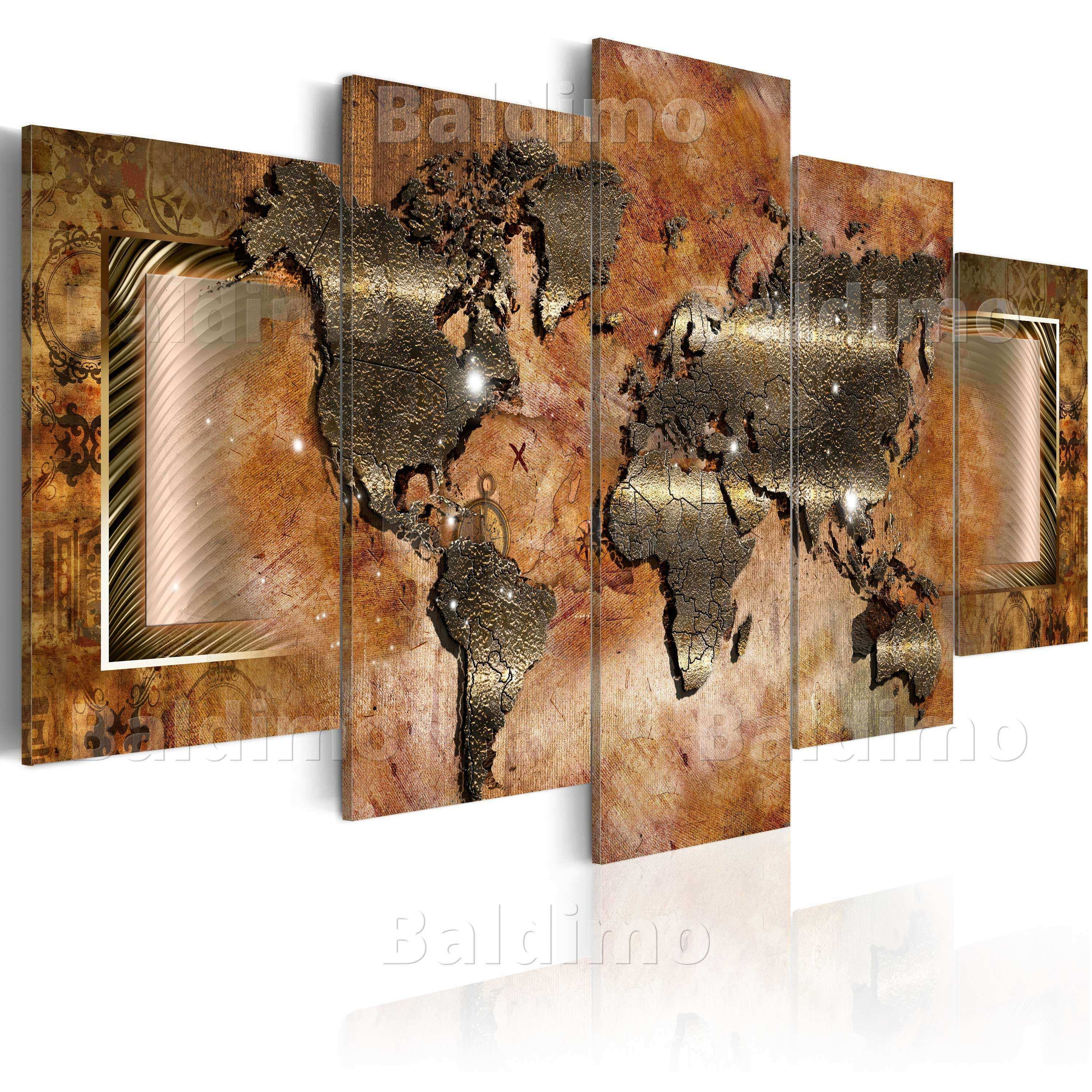 LARGE CANVAS WALL ART PRINT IMAGE PICTURE PHOTO WORLD MAP