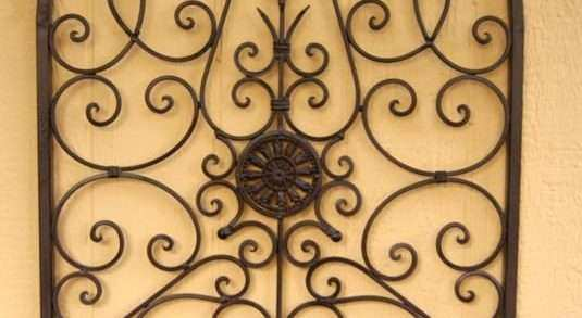 Large Wrought Iron Wall Art Elegant Wrought Iron Wall Decor Wrought ...