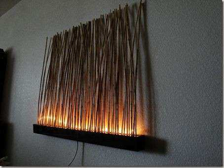 Led Wall Art Home Decor Luxury Lighted Bamboo Wall Art