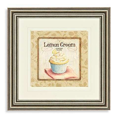 Buy Lemon Cream Cupcake Wall Art from Bed Bath & Beyond