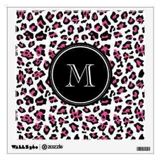 Pink Leopard Print Wall Decals & Wall Stickers