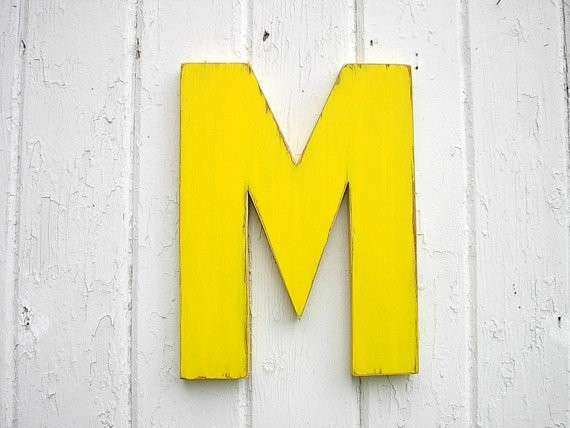 Letter M Wall Decor Beautiful Items Similar to Kids Wooden Wall ...